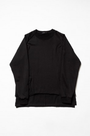 The Viridi-anne 20SS Fleece Pullover Black