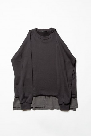 The Viridi-anne 20SS Fleece Pullover Charcoal