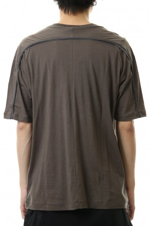 The Viridi-anne 20SS Cotton cashmere Back body Line Tee Olive Drab