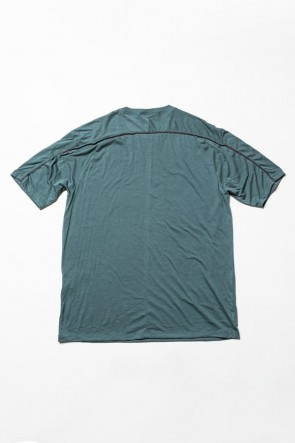 The Viridi-anne 20SS Cotton cashmere Back body Line Tee Turquoise