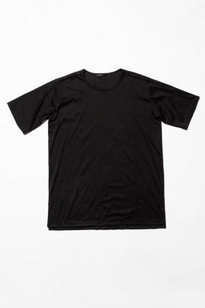 The Viridi-anne 20SS High Gauge Smooth Short sleeve T-shirt Black