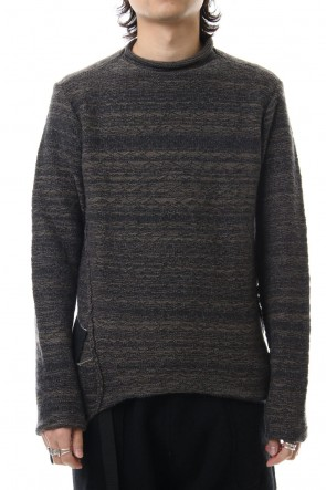 The Viridi-anne 19-20AW DANIEL ANDRESEN collaboration Pullover knit - Charcoal / Ice