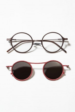 The Viridi-anne19-20AWRIGARDS collaboration sunglasses - A.Brown / C.Red