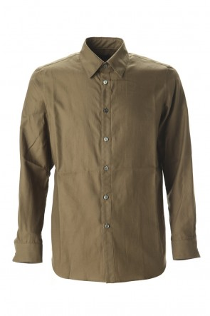 Yamauchi 20SS Ultra high density Back satin shirt Olive
