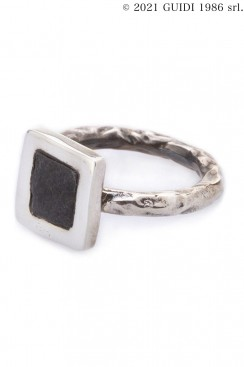 Guidi Classic G-AN02 - Square Leather Motif Ring