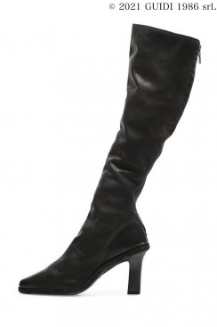 Guidi Classic MC810 - Back Zip Knee-High Boot With Carbon Heel