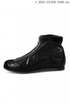 Guidi Classic RN02PZ - Front Zip Top-Ankle Sneaker