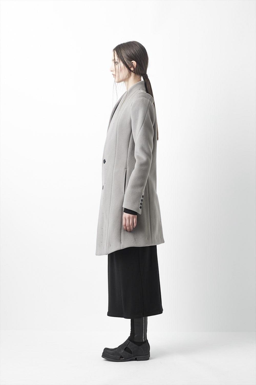 Cashmere Wool Double Face Beaver Coat - 11-C06