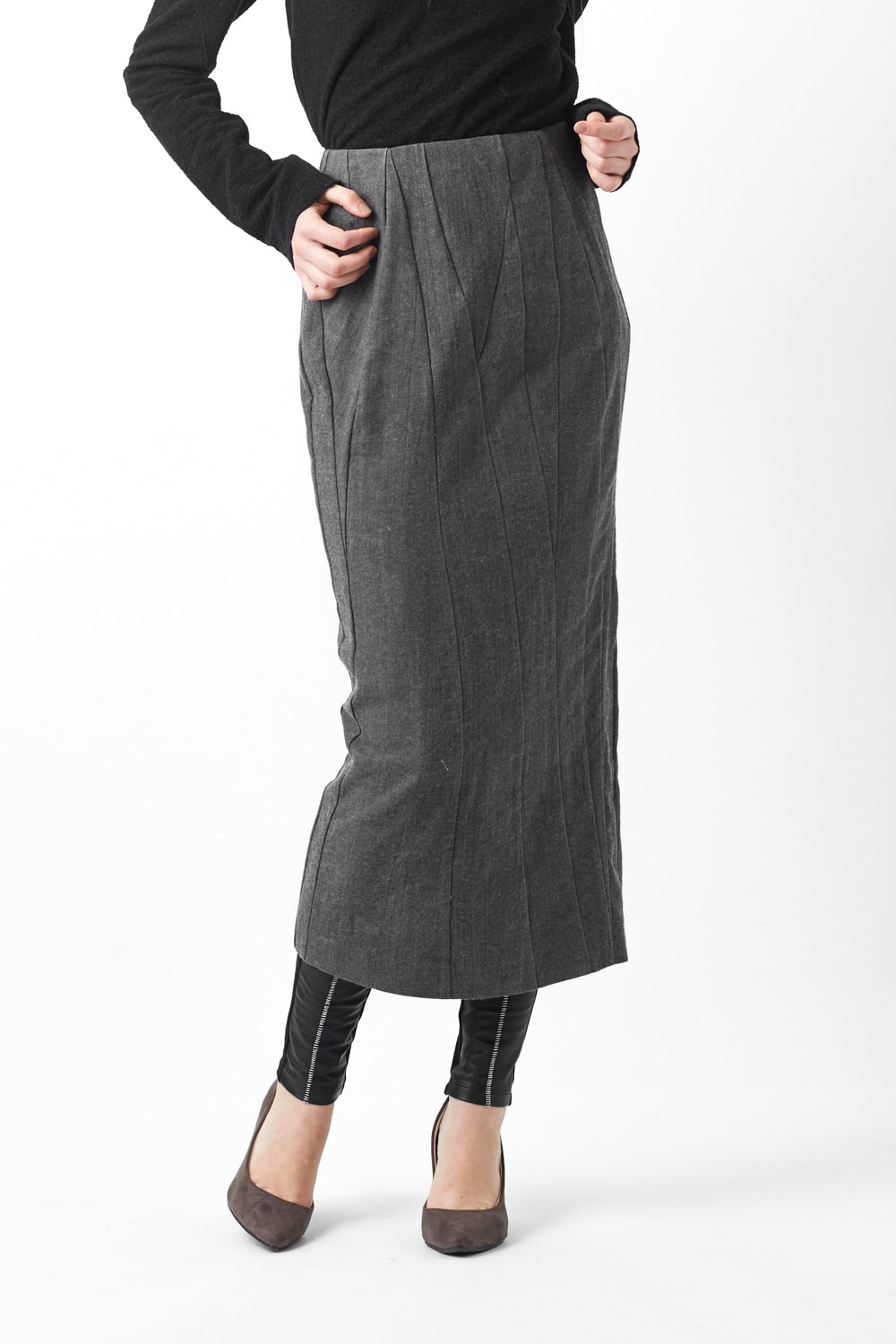 Wool Linen Cotton Washed Cloth Skirt 06-S05