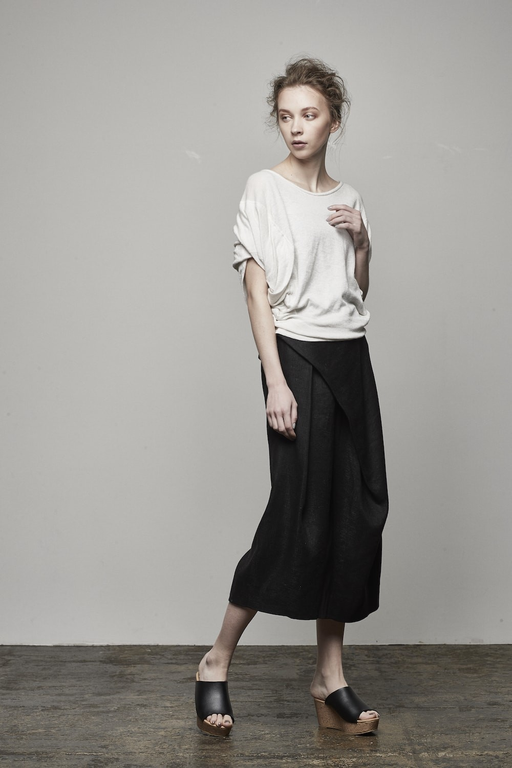 Silk Linen Deformed Herringbone Pants - DK11-09-P01
