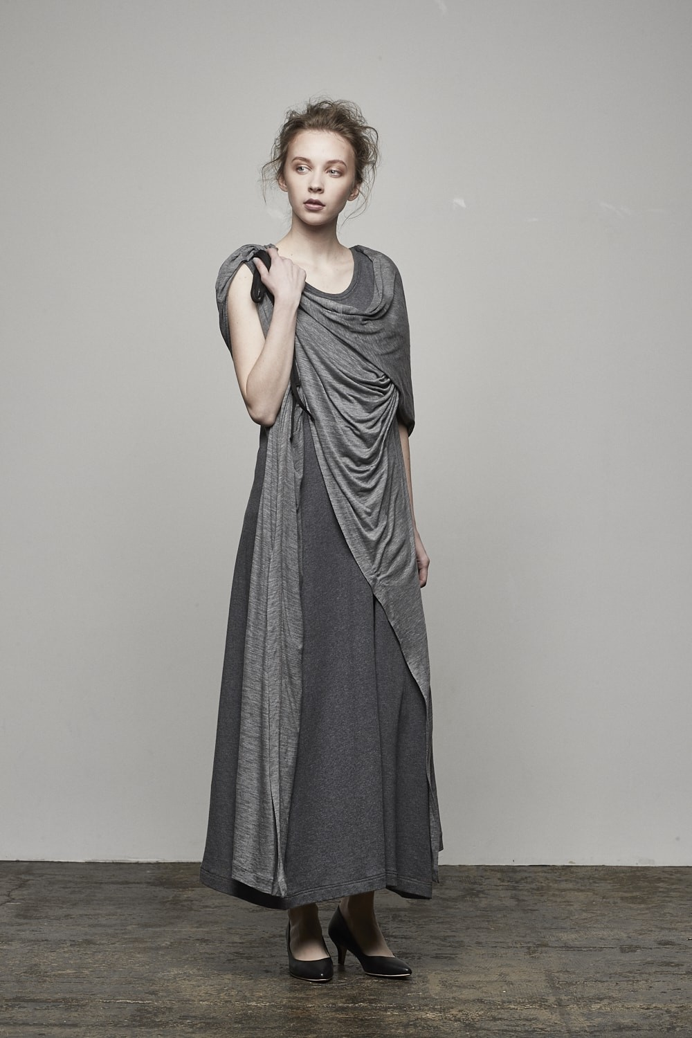 Front flared Long Dress - AL-1372