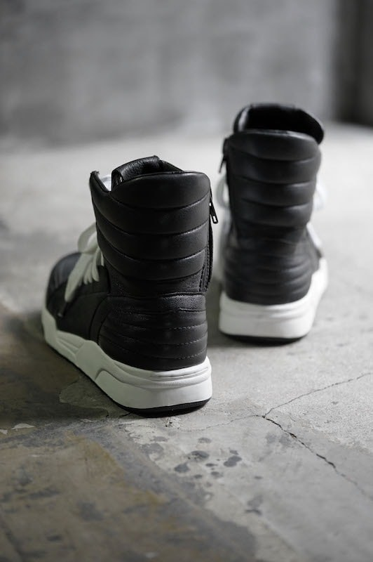 16AW  Side ZIP High Top Sneakers BLACK
