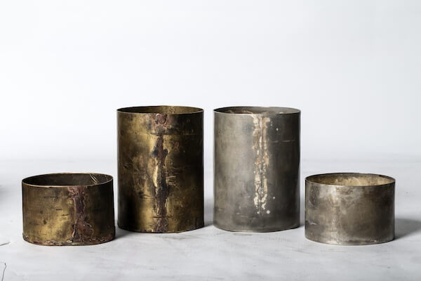 Parts of Four Brass Candle (120mm) AMB