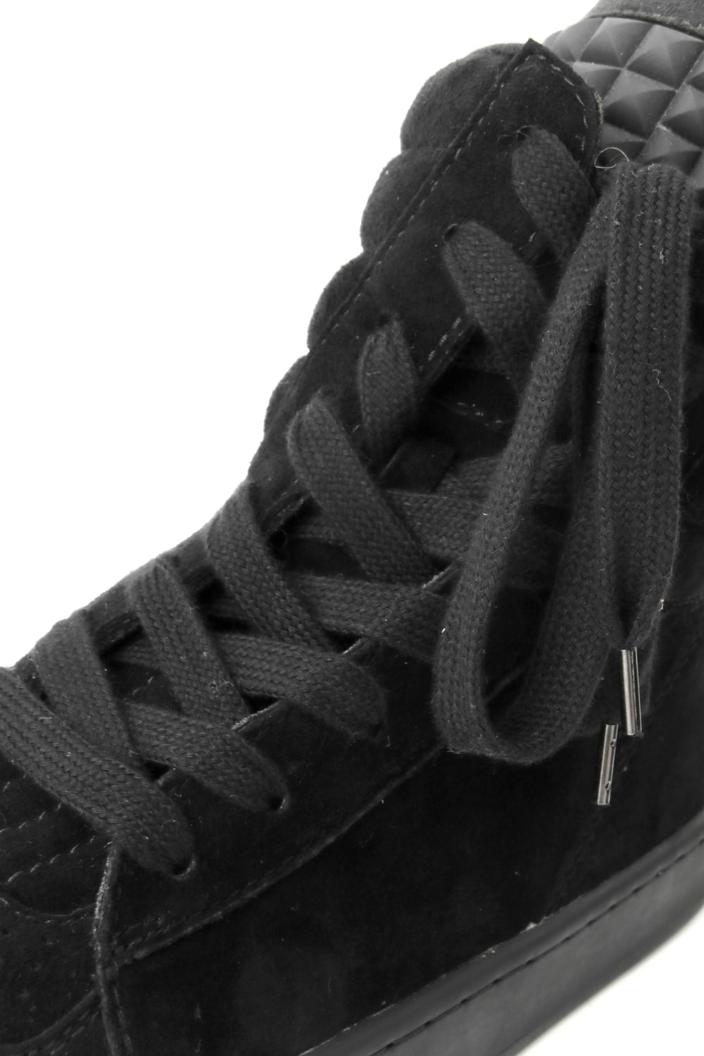 DIET BUTCHER SLIM SKIN [DBSS] 16AW Twisted Sneakers BLACK SUEDE