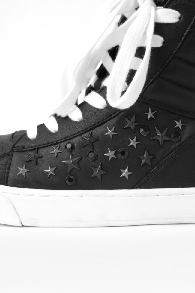 "17SS Twisted sneaker ""TILT-STAR"" BLACK × WHITE"