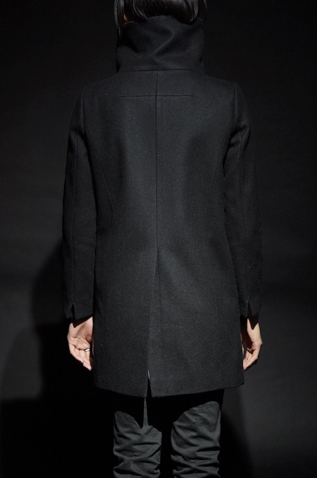 16AW Melton High Neck Coat