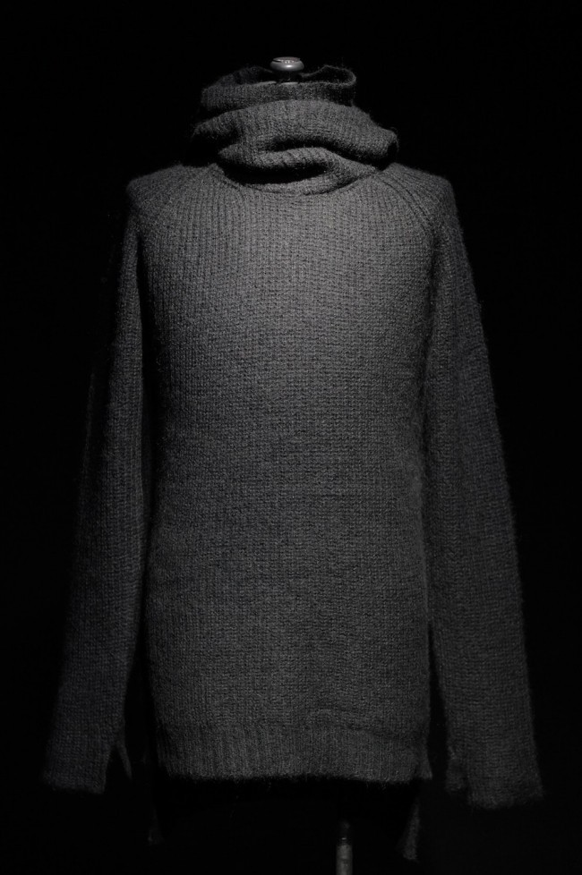 16AW Double Layer Neck Knit Hoodie