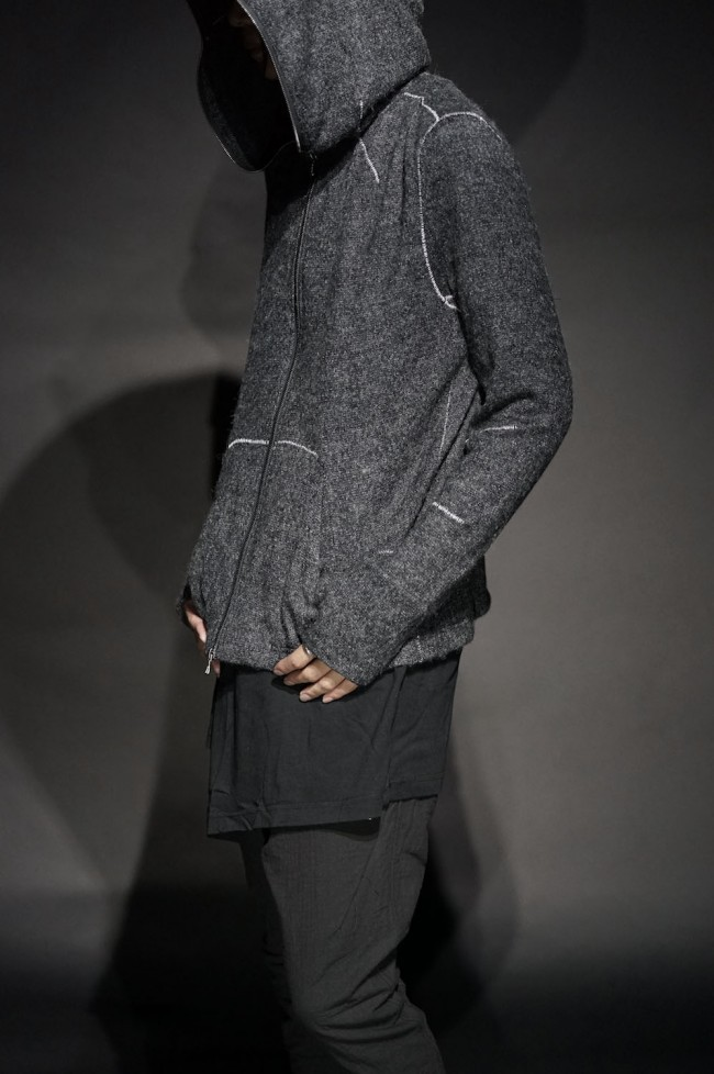 """16AW """"2 WAY+"""" OVERLOCKED STRUCTURED HOODIE"""
