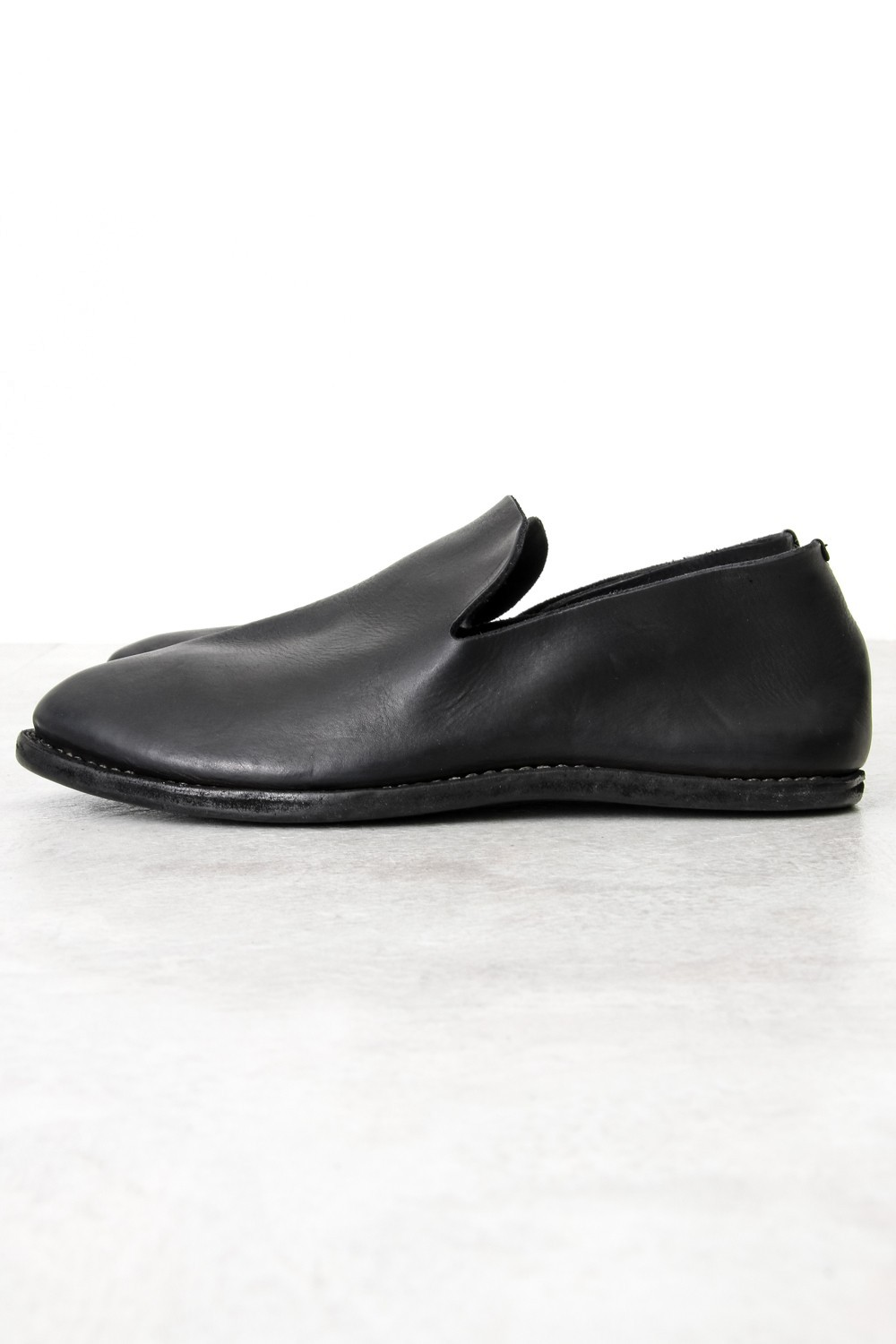 Leather Slip on - Black