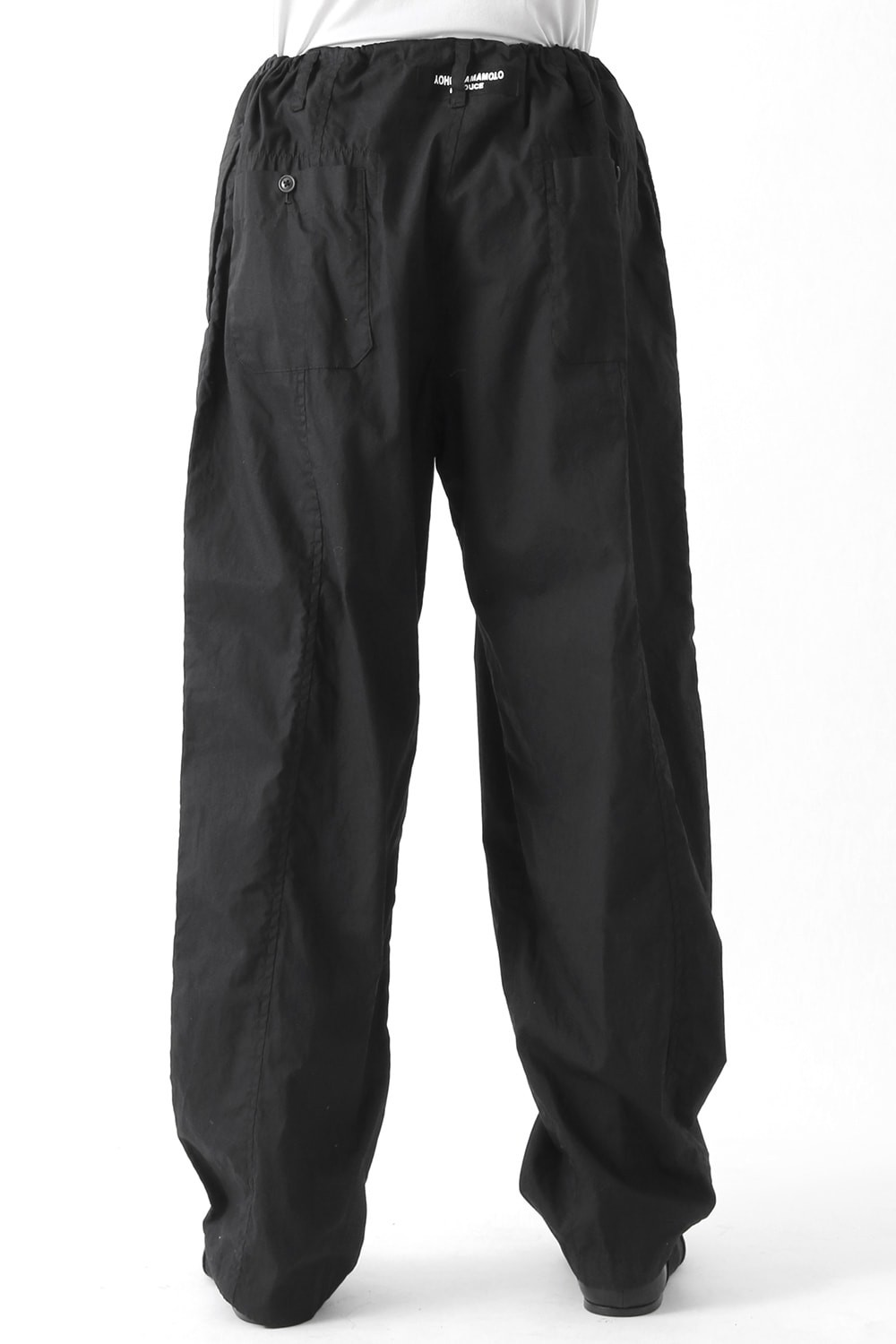 Classical Switched Parts Draw Cord Dyed Pants