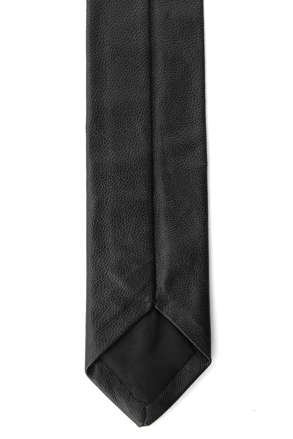 T.A.S  LAMB LEATHER NECK TIE (NARROW)