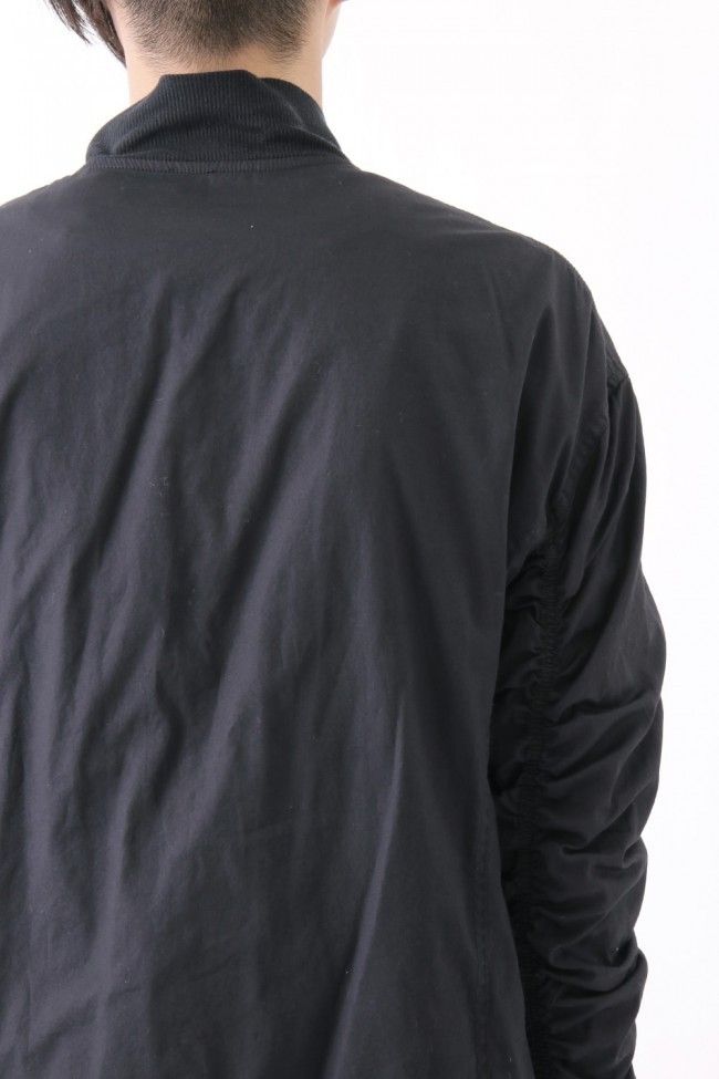 17SS Garment dyed flight jacket BLACK