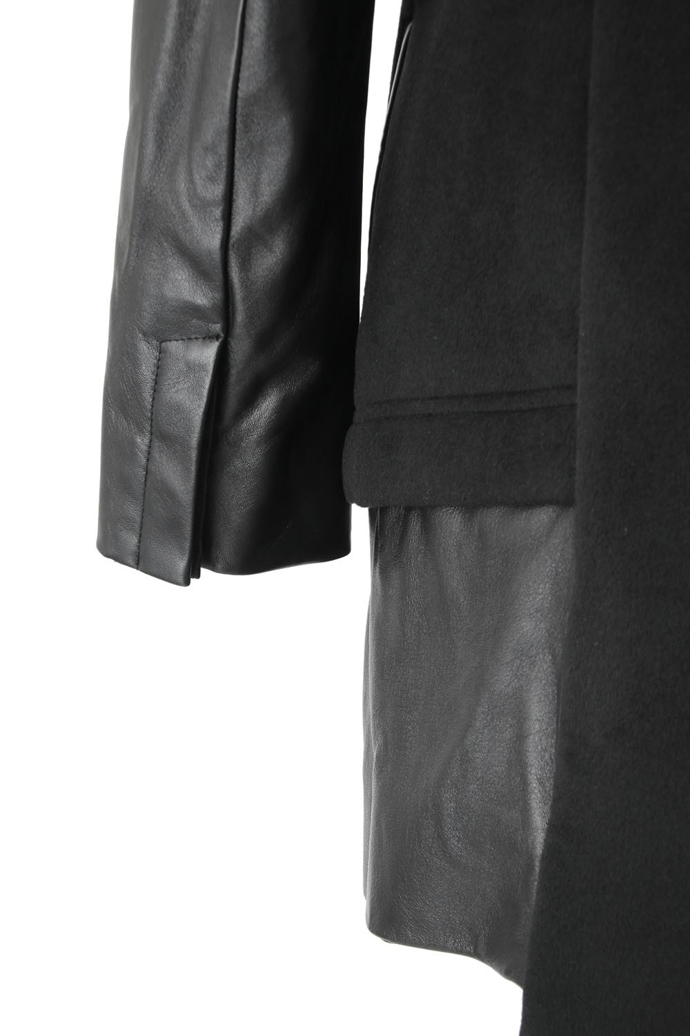 Arm Leather Chester Coat - ag-0829