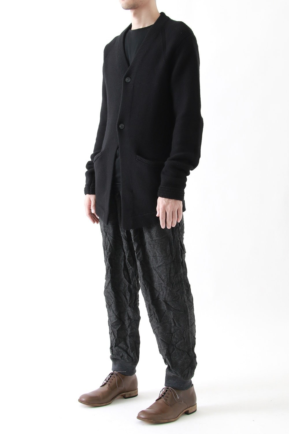 Double Tuck Hem Rib Pants
