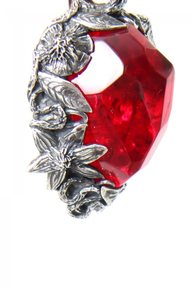 the WINTER male / Necklace Charm RED