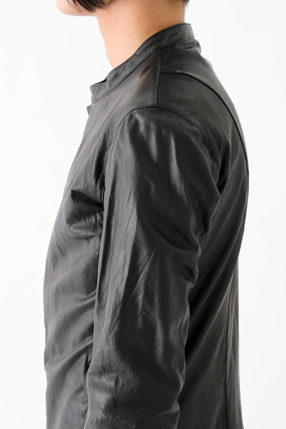 17SS LAYERED LEATHER JACKET