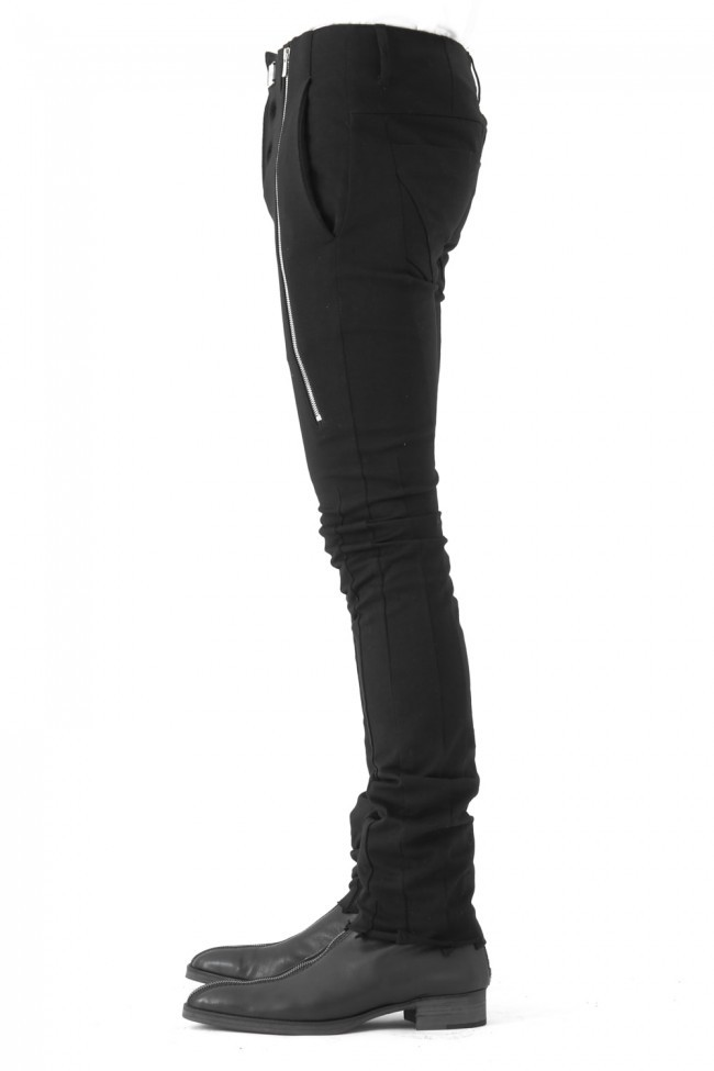 17SS Zipping down in front with no waist in summer jerzy trouser