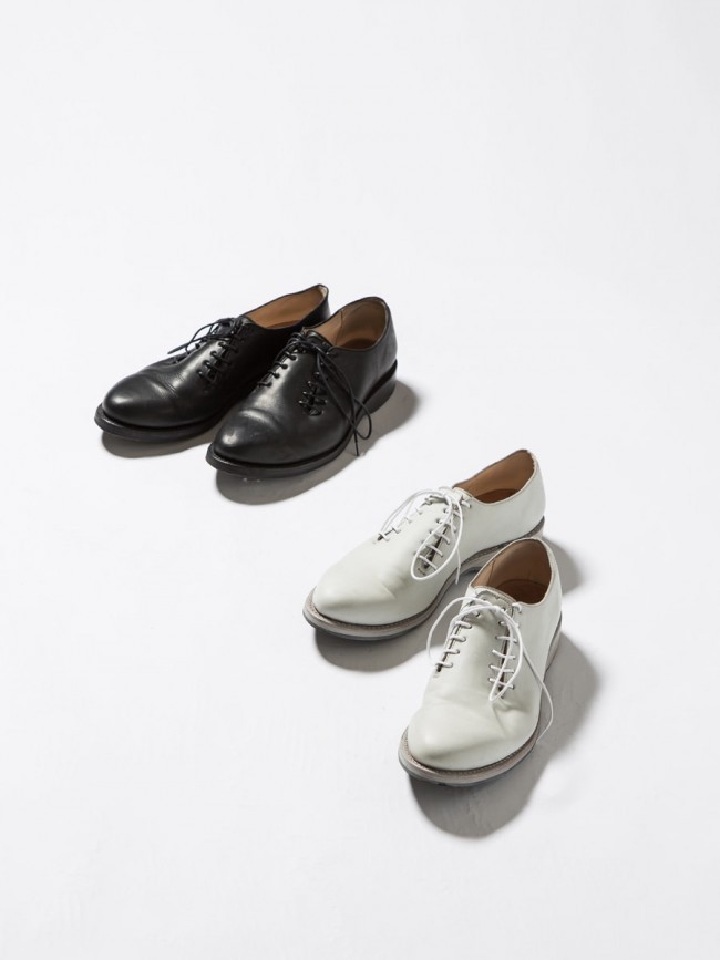 17SS Double Lace-up Short Shoes BLACK