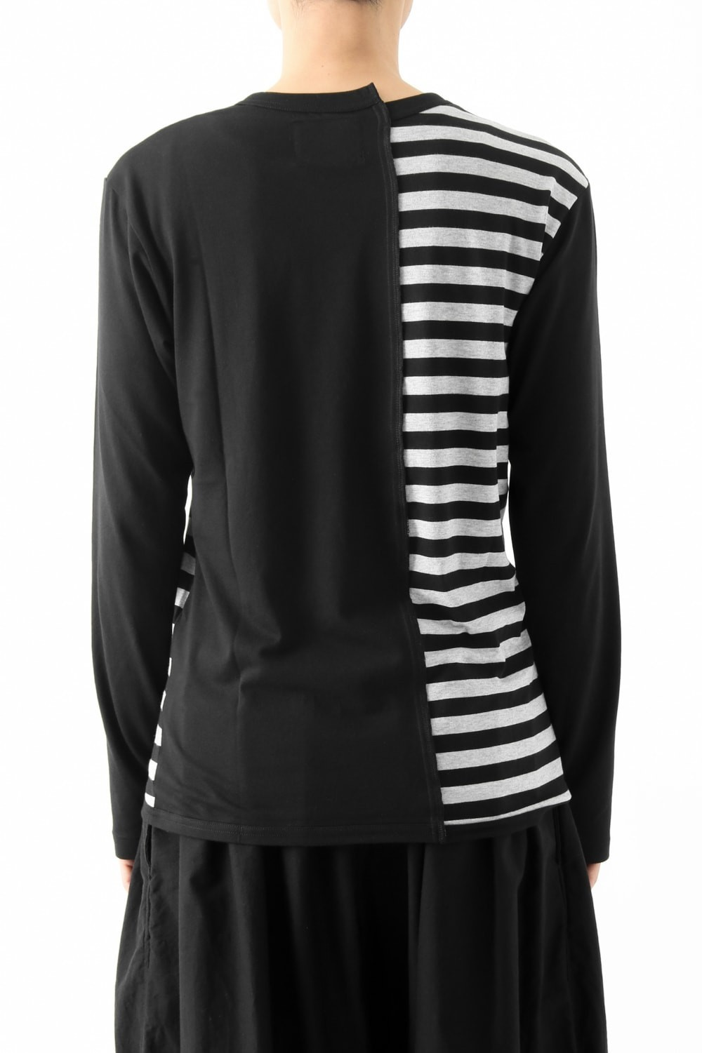 Vertical Switched Part Long Sleeve Shirt