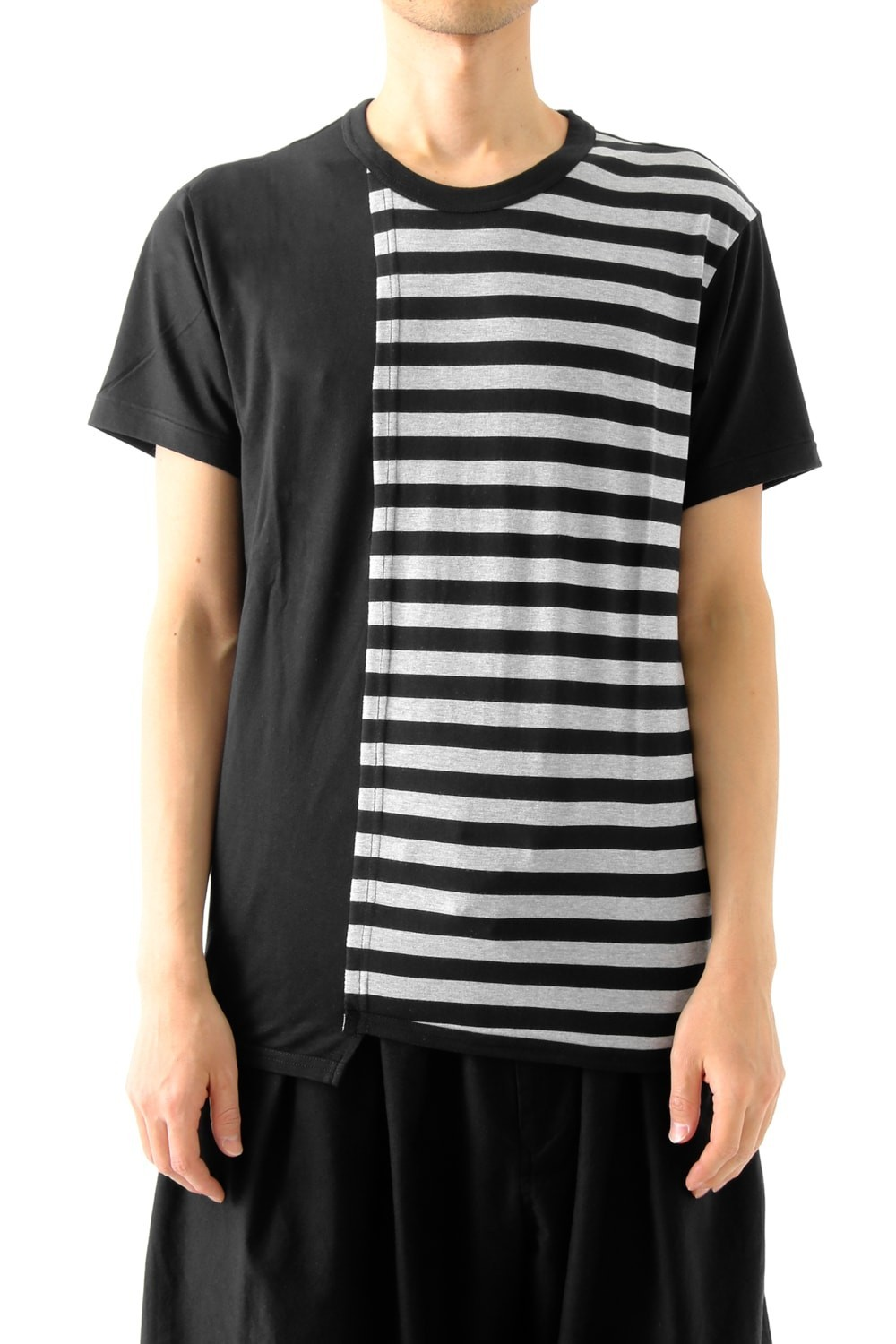 Vertical Switched Part T-Shirt