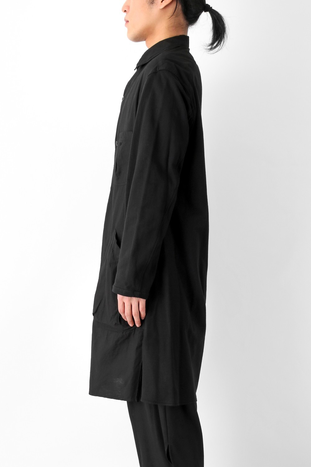 W-Spread Charcoal Dyed Coat