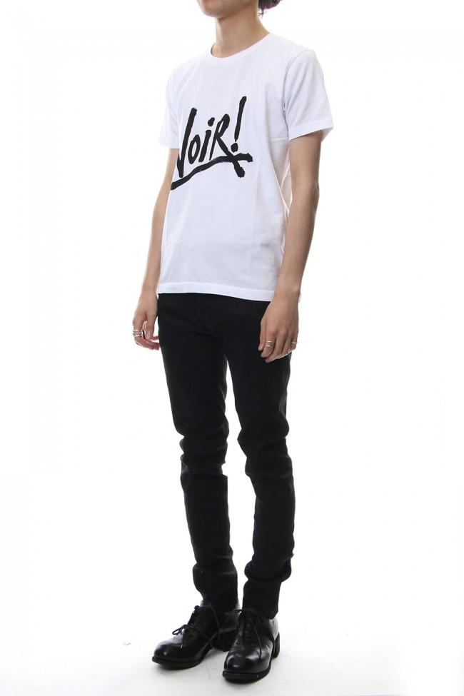 Rigid denim (skinny)-black