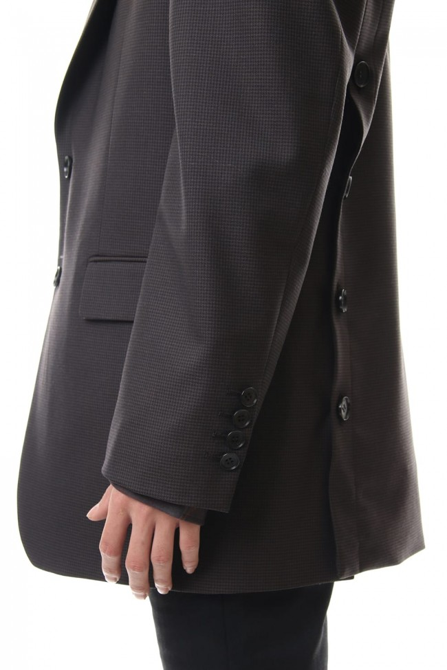 WOOL BACK BUTTONED JACKET