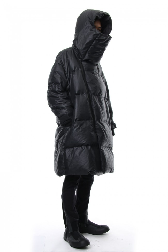 Neck Cover Hooded Down Coat