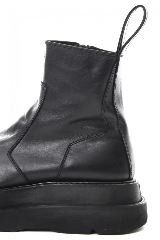 OVERLAYING SIDE ZIP ENGINEER BOOTS