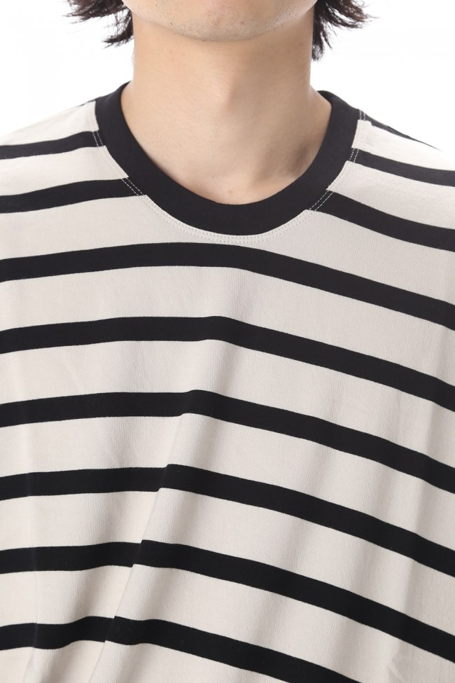 STRIPE T-SHIRT OFF x BK