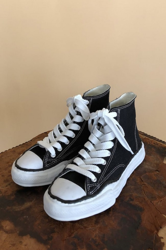 Original sole Canvas Hi cut sneaker Black-Black-44-70%-MT