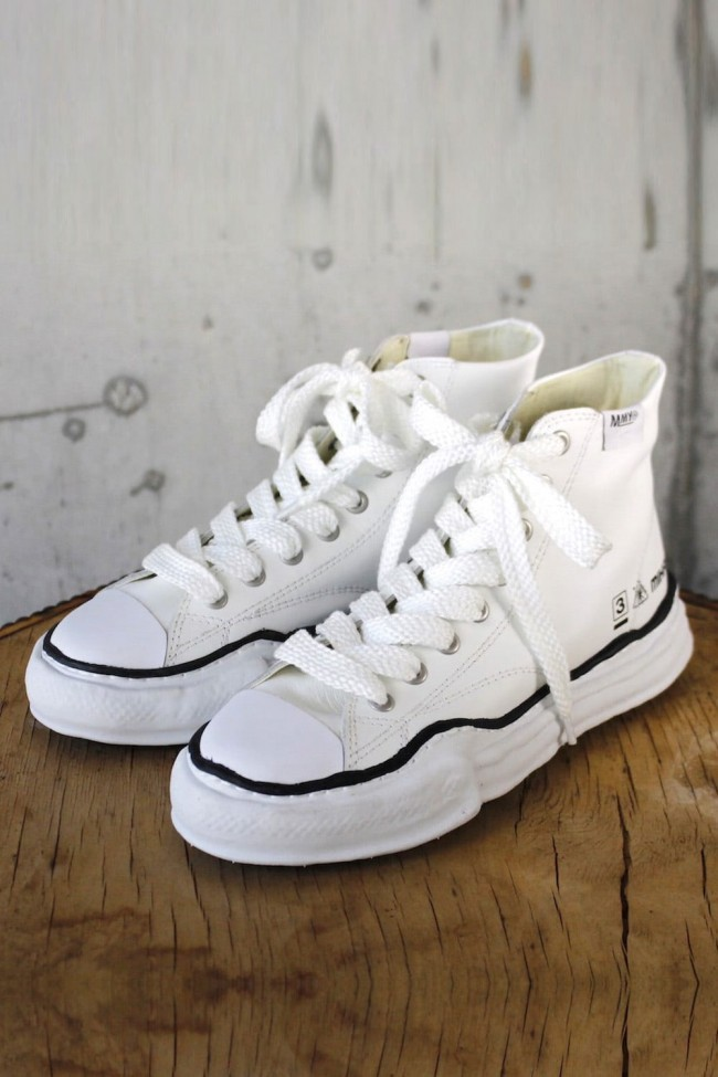 Original sole Leather Hi top sneaker White-White-43-70%-MY