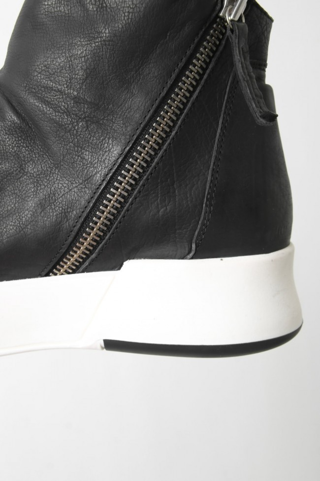 "16AW 'RING"" Layered Side ZIP Sneakers BLACK×WHITE"