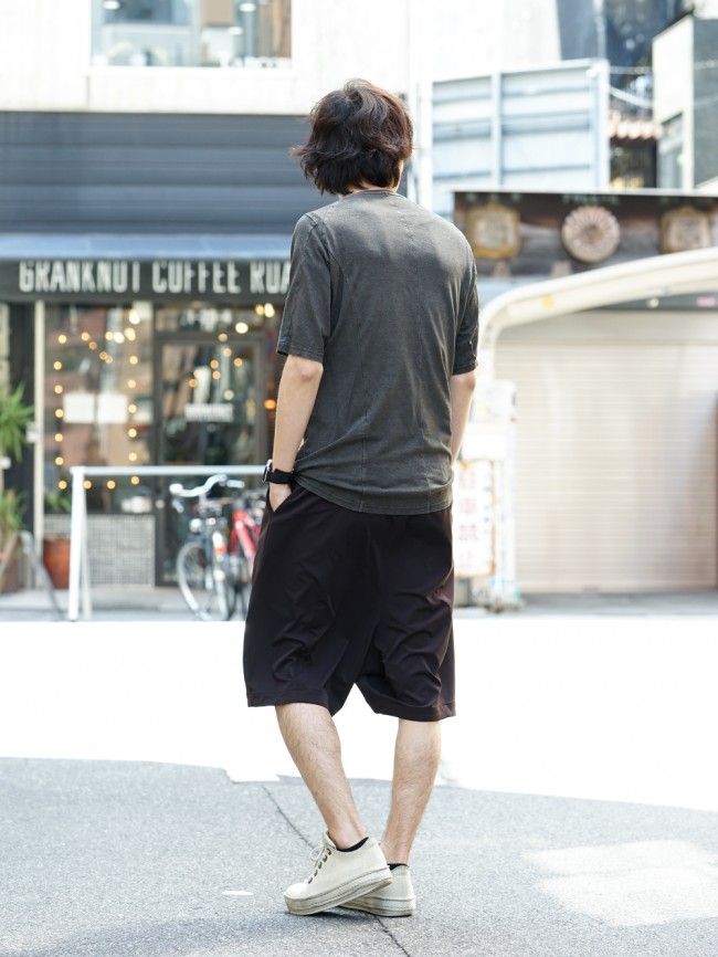 Short sleeve Japanese paper jersey Products dyed - Charcoal