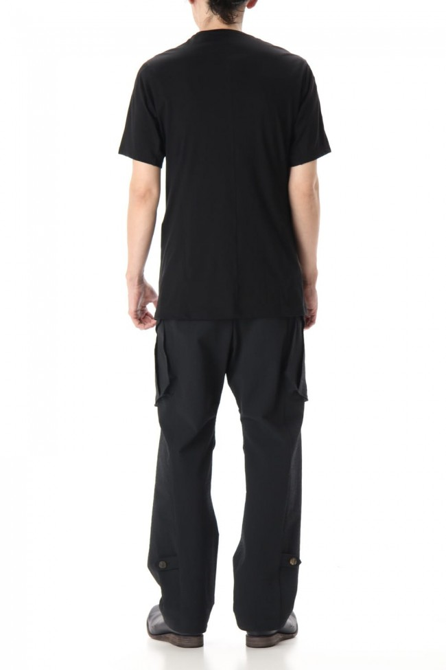 Short Sleeve egyptian cotton jersey (SUVIN) - Black
