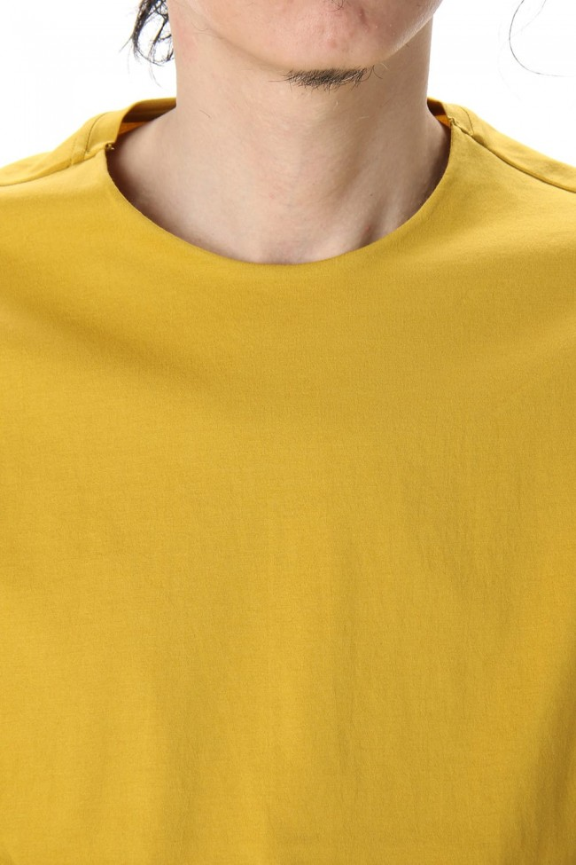 Short Sleeve egyptian cotton jersey (SUVIN) - Dirty Yellow