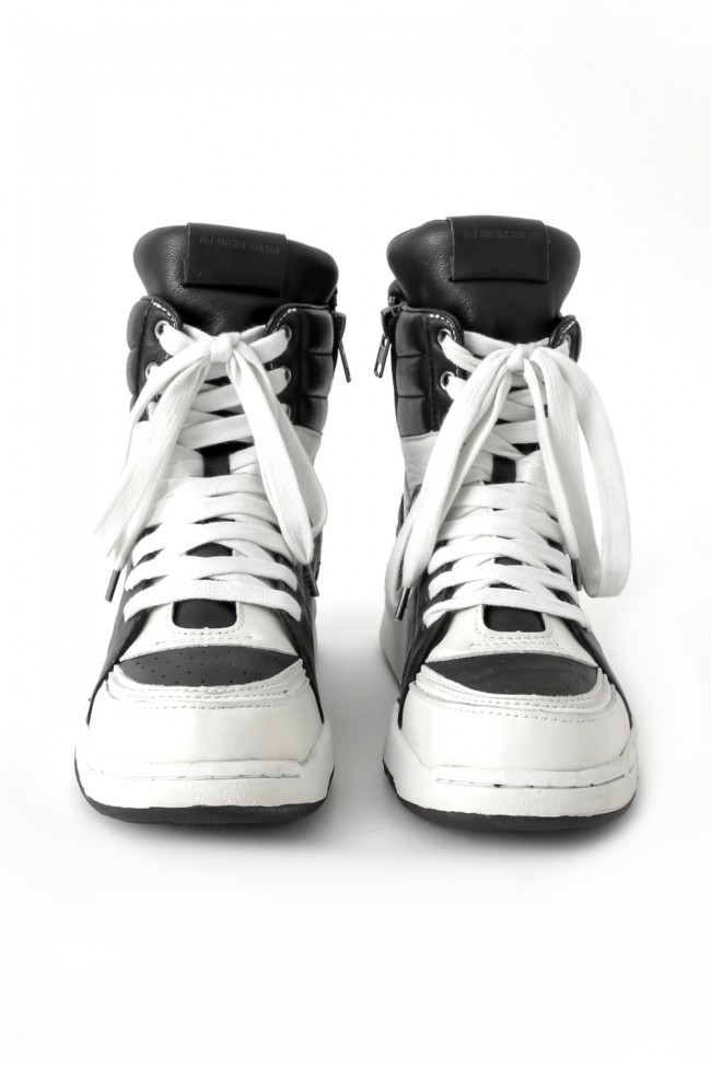 16AW  Side ZIP High Top Sneakers  BLACK×WHITE