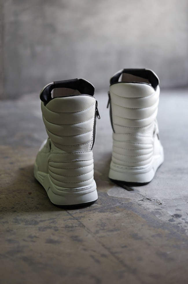 16AW  Side Zip High Top Sneakers WHITE
