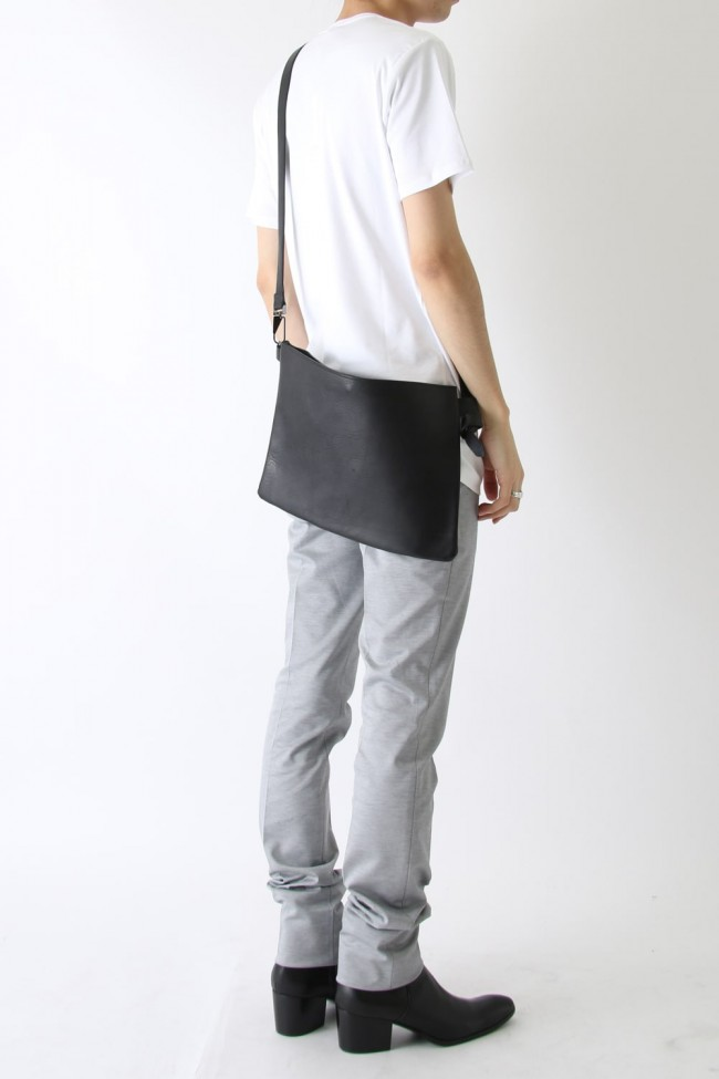 Vachetta leather musette bag