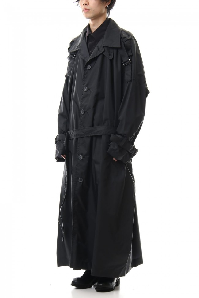 Nylon Taffeta Big Trench coat